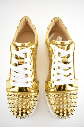 Christian Louboutin Flat Spike Sneaker Trainer Vieira gold Athletic Image 6