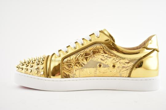 Christian Louboutin Flat Spike Sneaker Trainer Vieira gold Athletic Image 7