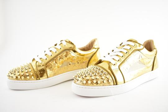 Christian Louboutin Flat Spike Sneaker Trainer Vieira gold Athletic Image 8