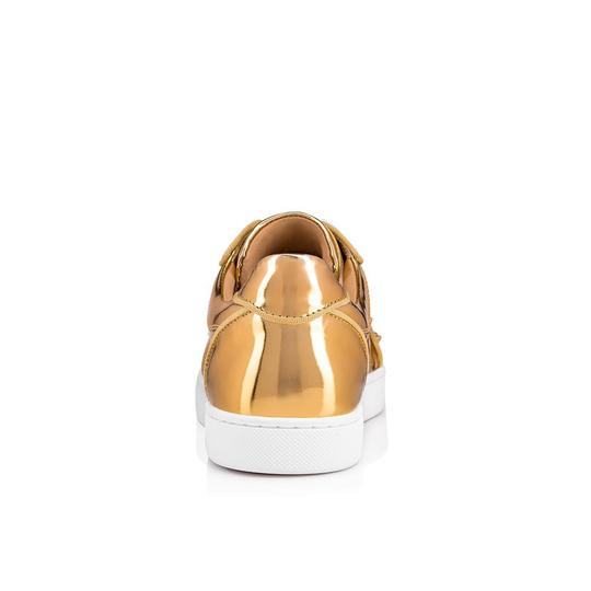 Christian Louboutin Flat Spike Sneaker Trainer Vieira gold Athletic Image 9