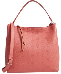 MCM Leather Logo Summer Pink Tote in cocoa