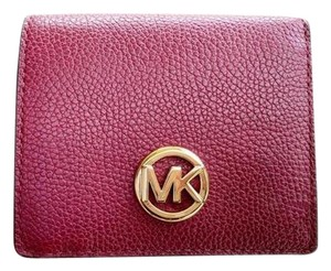 Michael Kors Michael Kors Fulton Carryall Card Case Wallet Mulberry Burgundy