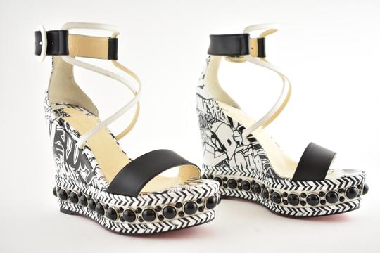 Christian Louboutin Pigalle Stiletto Classic Galeria Studded black Wedges Image 3