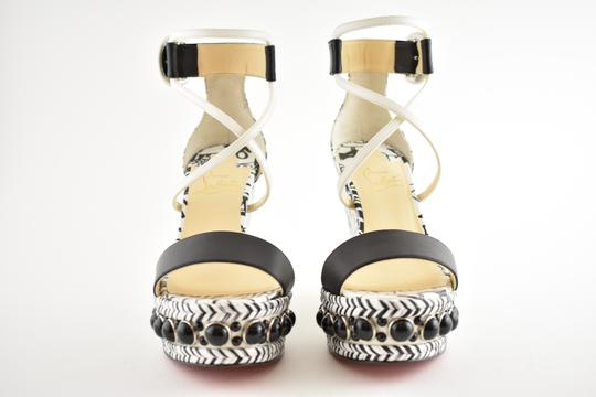 Christian Louboutin Pigalle Stiletto Classic Galeria Studded black Wedges Image 4