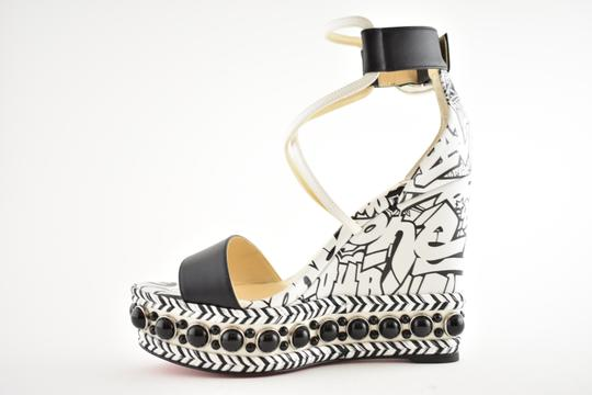 Christian Louboutin Pigalle Stiletto Classic Galeria Studded black Wedges Image 6
