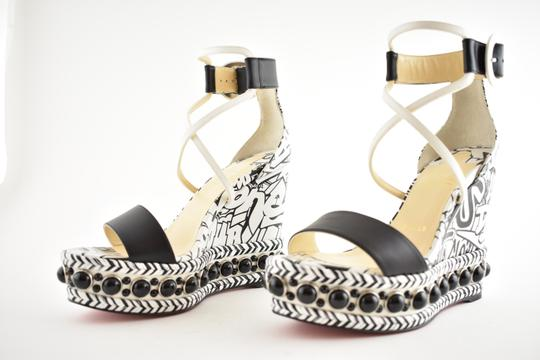 Christian Louboutin Pigalle Stiletto Classic Galeria Studded black Wedges Image 7