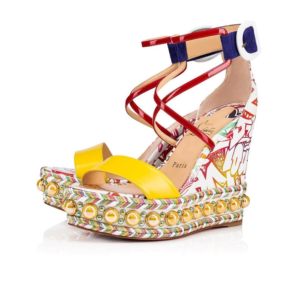 1b7028784bf Christian Louboutin Multicolor Graffiti Chocazeppa 120 Wallgraf Platform  Sandal Heel Pump Wedges Size EU 35 (Approx. US 5) Regular (M, B)