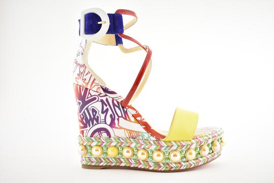 Christian Louboutin Pigalle Stiletto Classic Galeria Studded multicolor Wedges Image 1