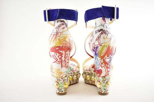 Christian Louboutin Pigalle Stiletto Classic Galeria Studded multicolor Wedges Image 10