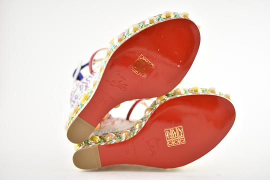 Christian Louboutin Pigalle Stiletto Classic Galeria Studded multicolor Wedges Image 11