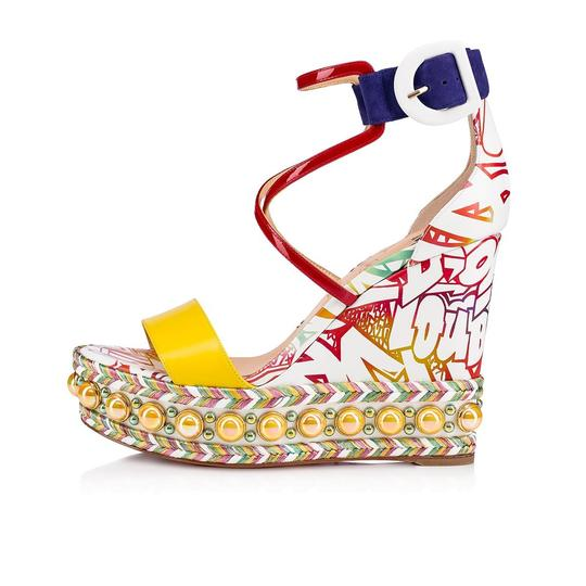 Christian Louboutin Pigalle Stiletto Classic Galeria Studded multicolor Wedges Image 2
