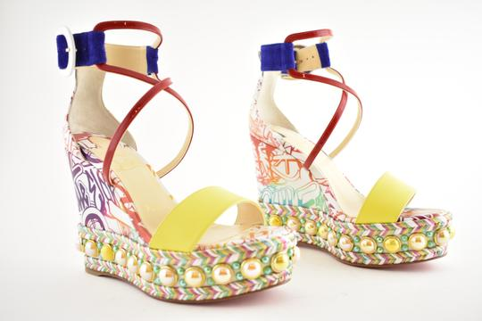 Christian Louboutin Pigalle Stiletto Classic Galeria Studded multicolor Wedges Image 3
