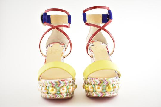 Christian Louboutin Pigalle Stiletto Classic Galeria Studded multicolor Wedges Image 4