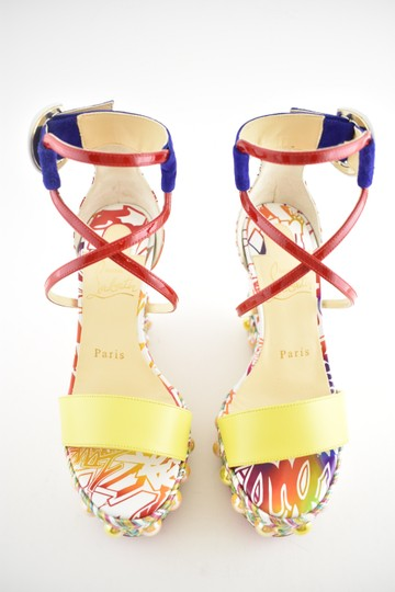 Christian Louboutin Pigalle Stiletto Classic Galeria Studded multicolor Wedges Image 6
