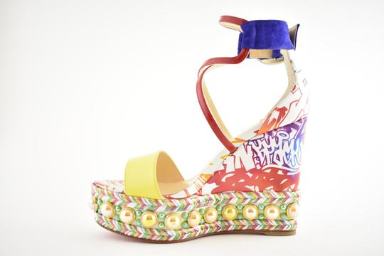 Christian Louboutin Pigalle Stiletto Classic Galeria Studded multicolor Wedges Image 7