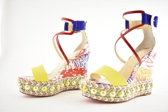 Christian Louboutin Pigalle Stiletto Classic Galeria Studded multicolor Wedges Image 8