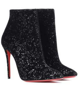 Christian Louboutin Moulamax Floral Stiletto Ankle black Boots