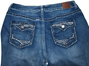 e2b6044ab0 Maurices Dylan Stretch Embroidered Designer Boot Cut Jeans