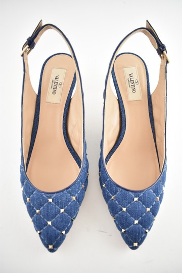 Valentino Rockoko Ankle Bootie Boot Sock blue Pumps Image 6