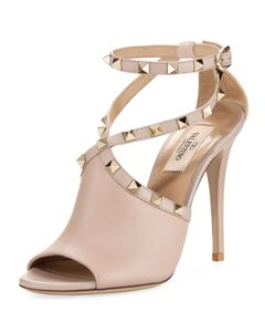 Valentino Rockoko Ankle Bootie Boot Sock nude Pumps