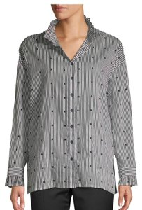 Maje Button Down Shirt Gray