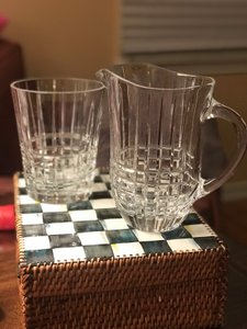 Tiffany & Co. Bucket Plaid Ice and Pitcher Barware