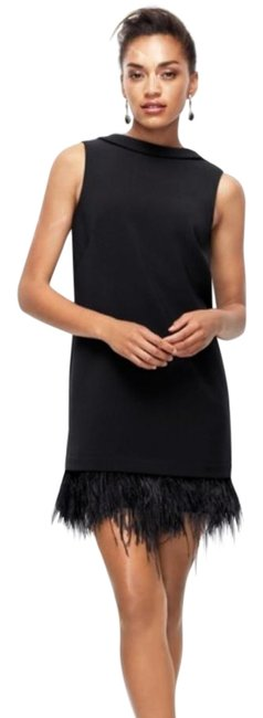 Preload https://img-static.tradesy.com/item/25498342/ann-taylor-black-little-with-feather-short-night-out-dress-size-2-xs-0-1-650-650.jpg