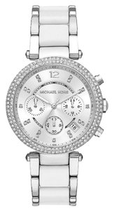 Michael Kors Michael Kors Women's Parker White Chronograph Watch MK6354