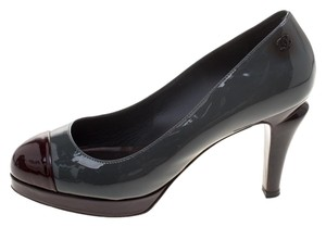 Chanel Patent Leather Grey Pumps