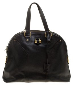 Saint Laurent Leather Oversized Tote in Brown