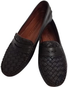 Robert Zur Luxury Driving Loafer Moccasin Leather Brown Flats