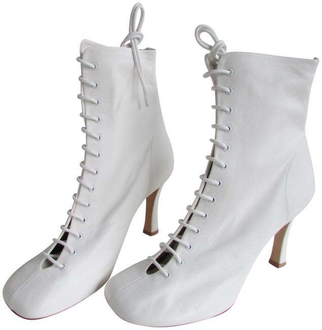 Item - Optic White Laced Glove Boots/Booties Size EU 41 (Approx. US 11) Regular (M, B)