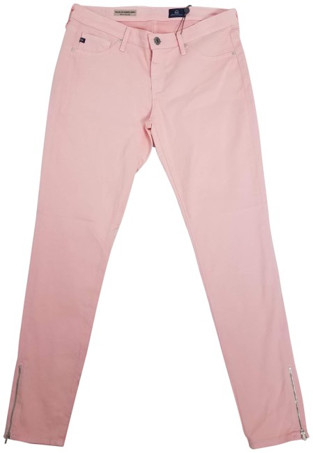 Item - Peach Light Wash Zip Up Legging Ankle Capri/Cropped Jeans Size 28 (4, S)