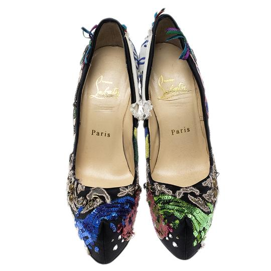 Christian Louboutin Leather Satin Limited Edition Multicolor Pumps Image 2
