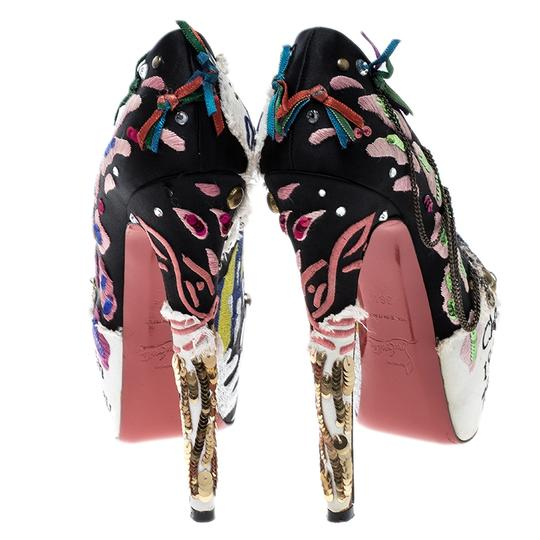 Christian Louboutin Leather Satin Limited Edition Multicolor Pumps Image 4