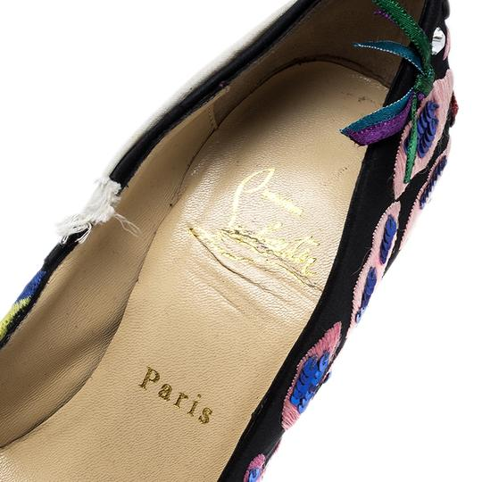 Christian Louboutin Leather Satin Limited Edition Multicolor Pumps Image 6