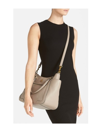 Tory Burch Leather Tote Satchel in Black Image 3