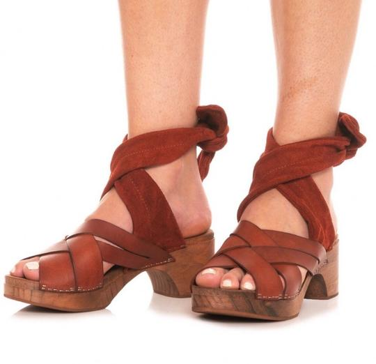 Free People Brown Mules Image 5
