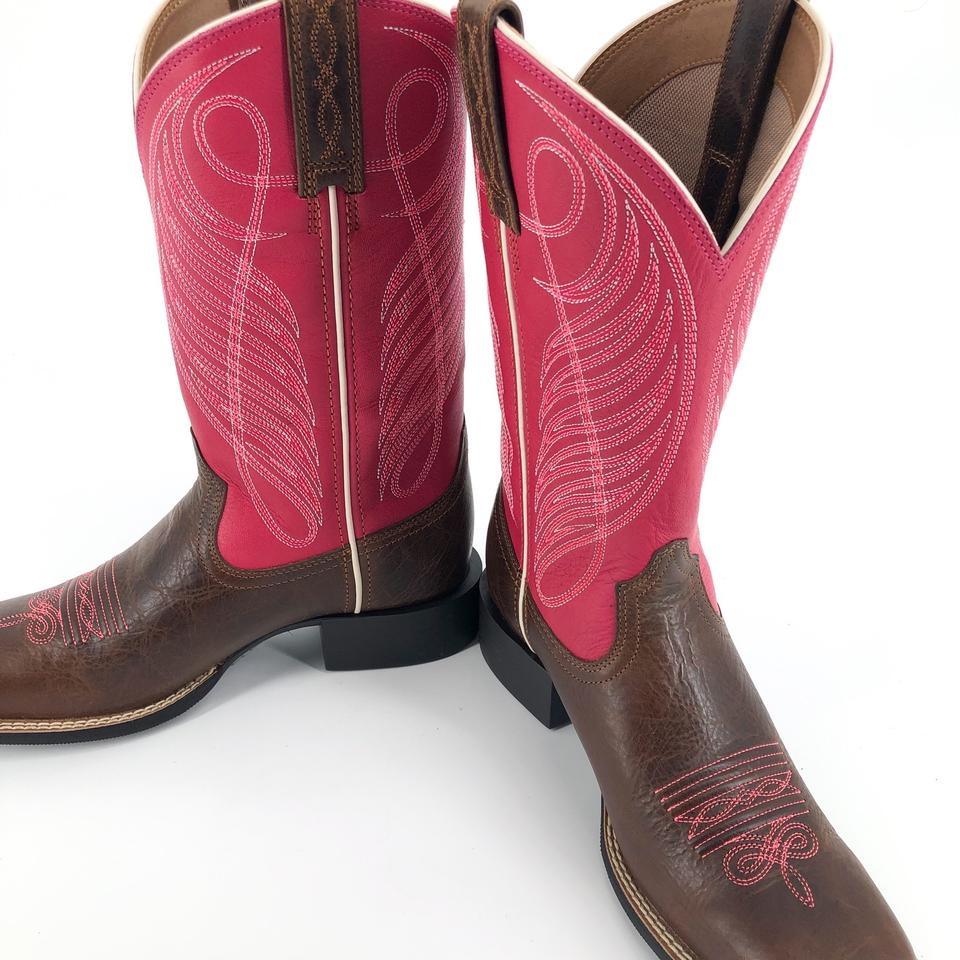 6dfc35ee353 Ariat Brown Pink Round Up Wide Cowboy Boots/Booties Size US 6.5 Regular (M,  B) 26% off retail