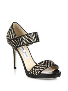 Jimmy Choo black gold Sandals
