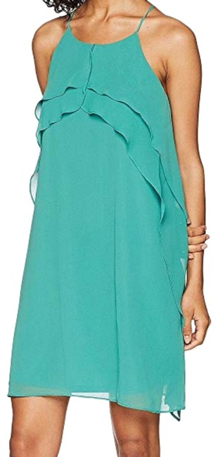 Item - Green New Ruffle Halter Mid-length Short Casual Dress Size 4 (S)