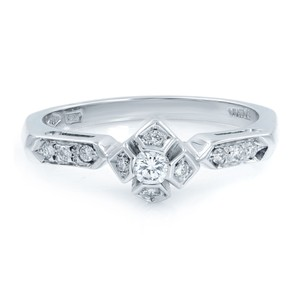Raima Diamond Accented Ladies Engagement Ring 0.18 Cttw