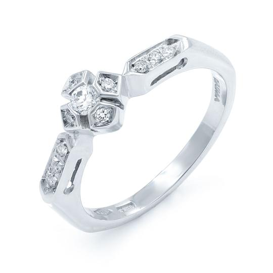 Raima Diamond Accented Ladies Engagement Ring 0.18 Cttw Image 1