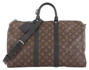 Louis Vuitton Monogram Keepall Bandouliere Brown Travel Bag