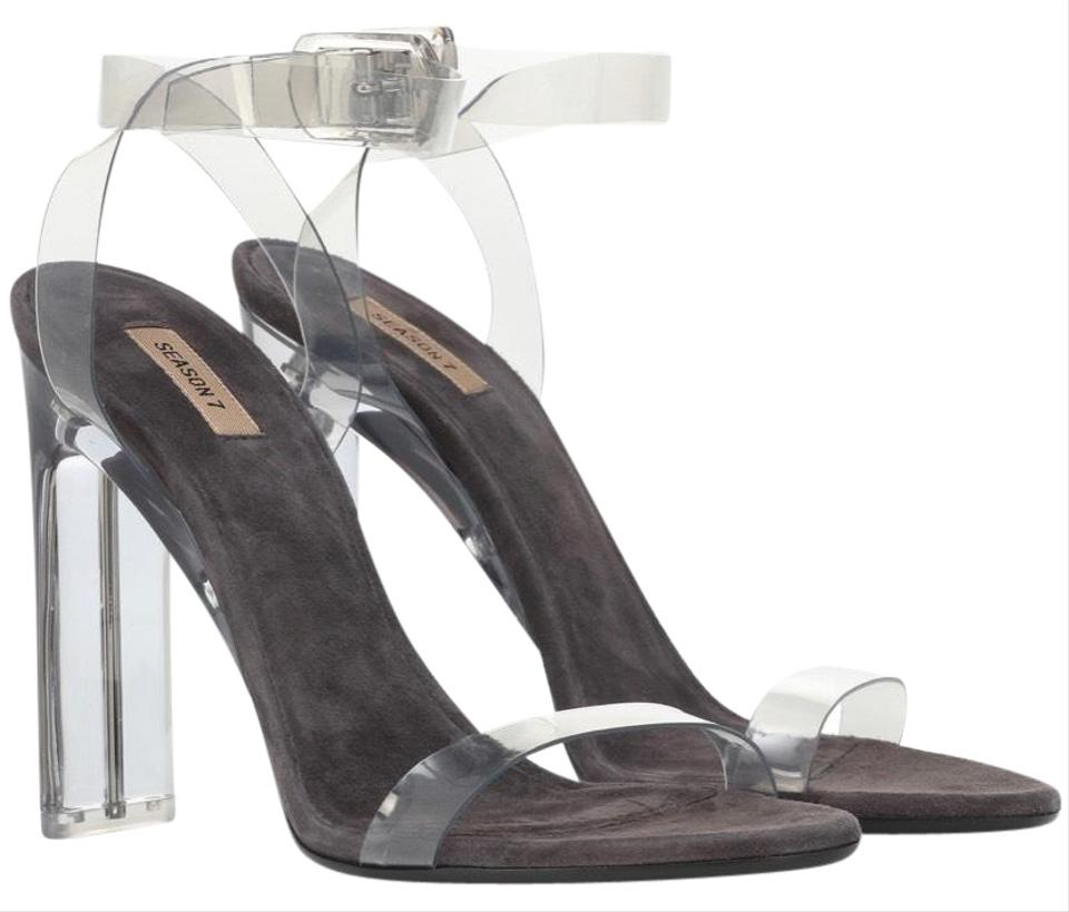 12ac8603779 YEEZY Smoke Transparent Heels Sandals Size EU 39.5 (Approx. US 9.5) Regular  (M, B) 55% off retail