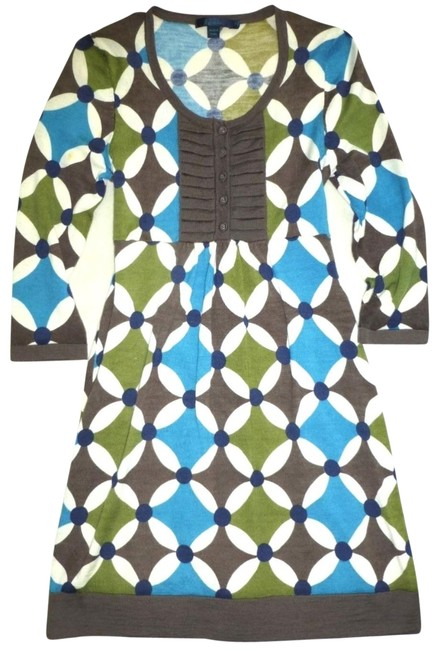 Preload https://img-static.tradesy.com/item/25499796/boden-blue-green-34-sleeve-teal-olive-kaleidoscope-wool-tunic-sweater-short-casual-dress-size-4-s-0-1-650-650.jpg