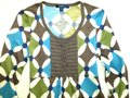 Boden short dress Blue Green Kaleidoscope Wool 3/4 Sleeve Tunic Sweater on Tradesy Image 1
