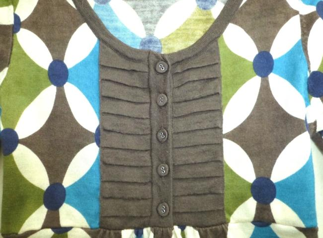 Boden short dress Blue Green Kaleidoscope Wool 3/4 Sleeve Tunic Sweater on Tradesy Image 2
