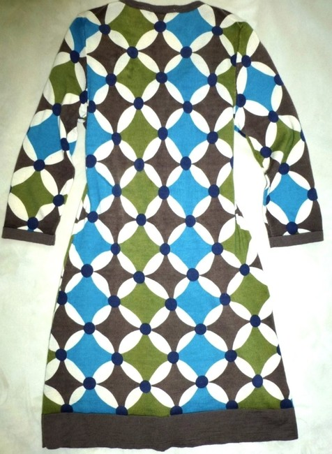 Boden short dress Blue Green Kaleidoscope Wool 3/4 Sleeve Tunic Sweater on Tradesy Image 4