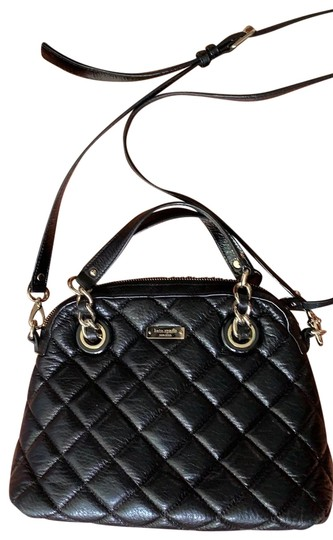 Preload https://img-static.tradesy.com/item/25499842/kate-spade-diamond-quilted-with-crossbody-strap-black-leather-satchel-0-1-540-540.jpg
